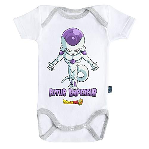 Baby Geek Futur Empereur Freezer Dragon Ball Super TM - Body para bebé de Manga Corta Blanco 6 Mes