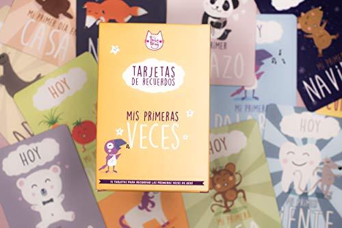 Tarjetas de Recuerdos Para Bebe | Mis Primeras Veces | Creaciones e Impresiones en Francia | Regalo Ideal para la Futura Mamá (Español)