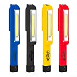 Nebo Larry C COB LED Work Light Magnetic Clip High-power 170 Lumen COB Led, Yellow, Red, Grey, Blue 4-pack