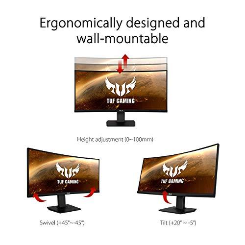 ASUS TUF Gaming VG35VQ 88,9cm (35 Zoll) Monitor (WQHD, DisplayPort, HDMI, 1ms Reaktionszeit, 100Hz, HDR10) schwarz