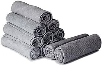 Adam's Edgeless Microfiber Utility Towel - Edgeless Microfiber Design with Tight Weave Fibers - Great All Purpose Detailing Towel (12 Pack)