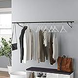 Direct Online Houseware Kleiderstange zur Wandmontage, Schwarz, 152 cm