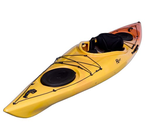 Riot Kayaks Edge 13 LV Flatwater Day Touring Kayak (Yellow/Orange,...