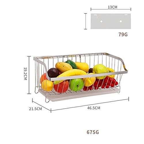 Escurreplatos de acero inoxidable 304 para montar en la pared de la cocina, escurridor de platos, cubierta para cubiertos y accesorios Frutero