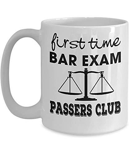 Pass Bar Exam Erstmalige Bar Exam Passers Club Waage der Gerechtigkeit Young Lawyer Law School Rechtsanwalt Mug Cup