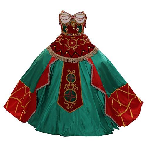 El fantasma de la ópera Christine Daae Cosplay vestido de noche del siglo 18 renacimiento victoriano Marie Antonieta vestido de bola