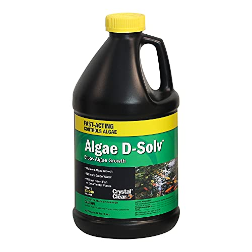 Crystal Clear Algae D-Solv – EPA Registered Algaecide – Safe for Fish and Plants: 64 Ounces Treats 23,040 Gallons