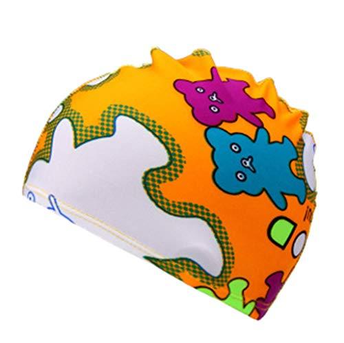 Bonnet de bain enfants nager été imprimer multi style capuchon à manches de dessin animé(Multicolore)