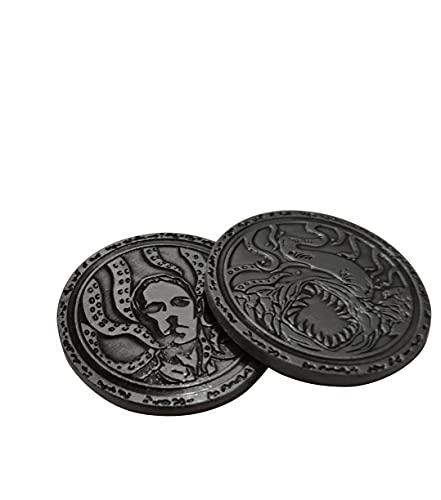 Monedas Cthulhu Merch Nueva Colección Conmemorativa Retro Antiguo Junta De Juego Accesorios Amarillo King hasta Nyaratotip Yugsothos
