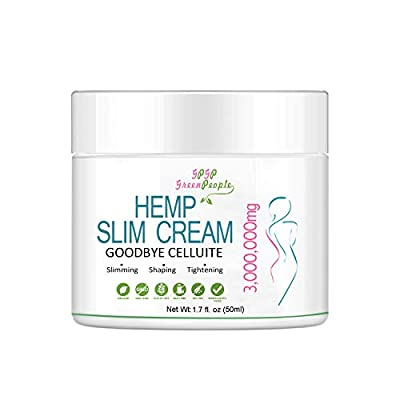Slimming Cream for Body with Hemp Oil, Hemp Hot Cream - Organic Body Slimming Cream, Workout Enhancer Sweat Slimming Cream for Thighs, Legs, Abdomen, Arms and Buttocks - 50mL from GPGP Greenpeople