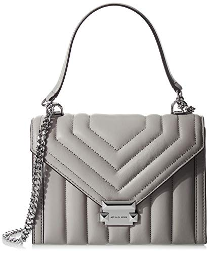 Made of Leather; lining: polyester; Push lock closure; 1 interior zip pocket, 1 center zip pocket and 1 front slip pocket 12 Inches handles; 21 Inches Shoulder strap Silver tone exterior hardware Measurements: Length: 11 x Height: 7.5 x Width: 6 Inch...