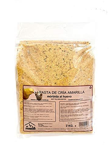 faunamix Comida pajaros Pasta de cría y Mantenimiento Amarilla, 2 Kilos