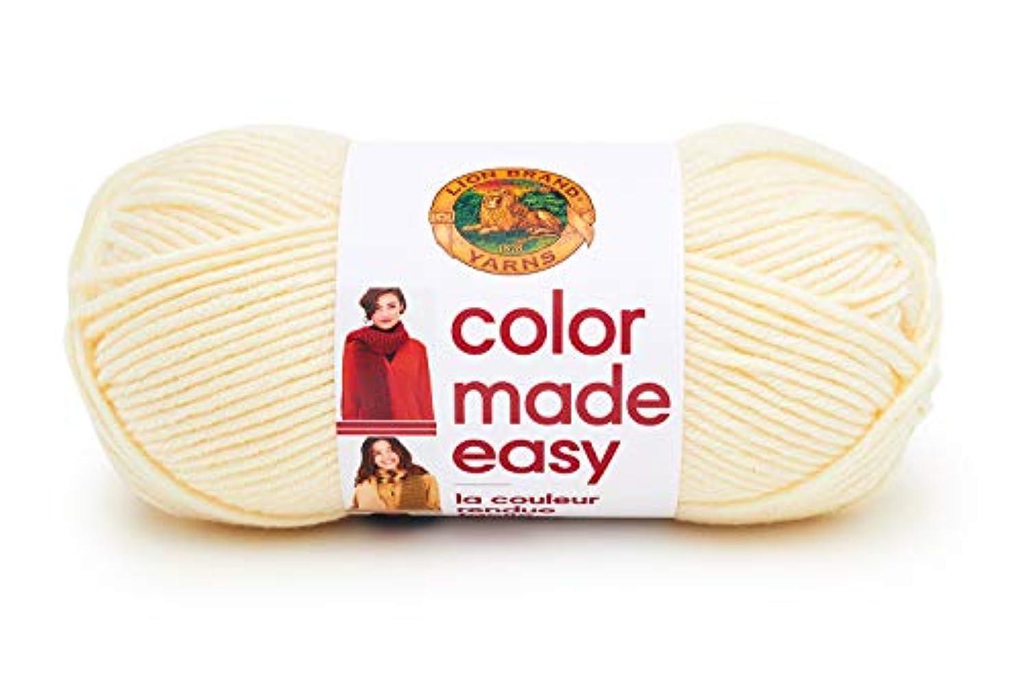 Lion Brand Yarn 195-098 Color Made Easy Yarn, Alabaster