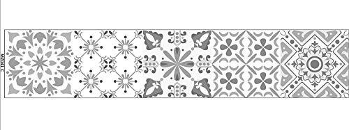BLOUR 10/15/20 / 30cm patrón Retro Azulejos de cerámica Tira Pegatina de Pared Cocina escaleras Arte Mural decoración del hogar Pegatinas de Pared de PVC a Prueba de Agua