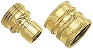 Green Thumb Brass Quick Connector Set for Hose … (3 pack)