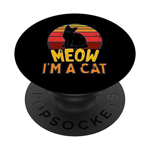 Miau Soy Un Gato Halloween PopSockets PopGrip: Agarre intercambiable para Telfonos y Tabletas