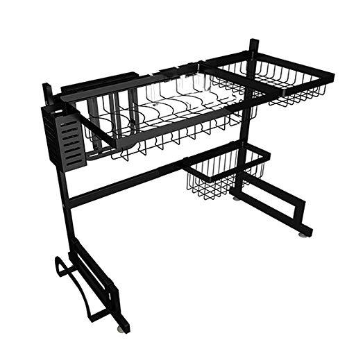 ZTMN Dish rack Roestvrijstaal keukenrek kraan zwembad put sink storage rack drain rack zwart