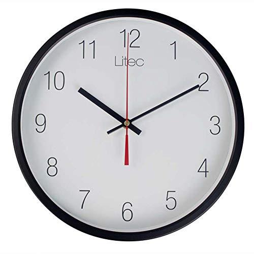 Triplsun-Clock frame zwart groot rond elegant moderne wandklok grote, gemakkelijk afleesbare cijfers. Ideaal voor elke ruimte thuis, eetkamer, keuken, kantoor, school.