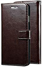 Trounce™ Pu Leather Flip Cover with Stand/Wallet/Card Holder (Coffee Brown) for HTC Desire 820