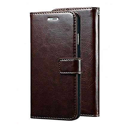 Trounce™ Pu Leather Flip Cover with Stand/Wallet/Card Holder (Coffee Brown) for HTC U Play