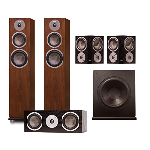 Affordable KLH Quincy 5.1 Speaker System (Walnut)