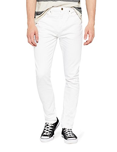 Marchio Amazon - find. Jeans Slim Fit Uomo, Bianco (White), 38W / 34L, Label: 38W / 34L