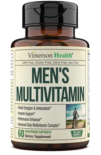 Men's Daily Multimineral Multivitamin Supplement - Vitamins A, C, E, D, B1, B2, B3, B5, B6, B12. Magnesium, Biotin, Spirulina, Zinc. Complete Immune Support with Antioxidant Properties. 60 Capsules