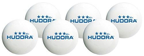 HUDORA Tischtennis-Bälle 6 Stück, weiß, 40 mm - 76277