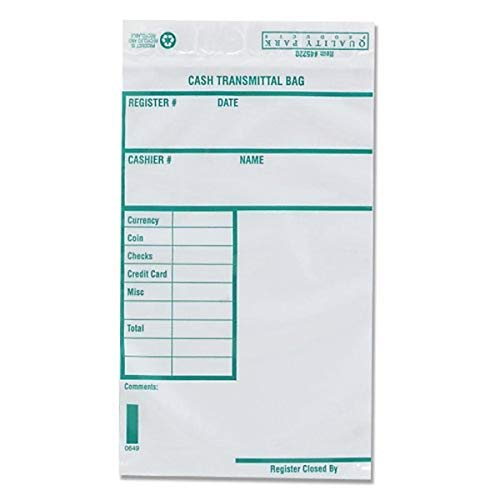Quality Park Poly Cash Transmittal Bags Self-Seal Clear 6 x 9 100 per Pack 45220