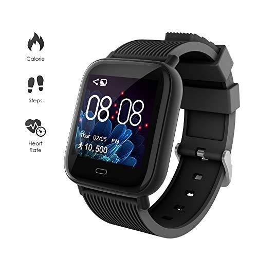 GOKOO Smartwatch Fitness Tracker Sportuhr für Damen Herren Armband Uhr Voller Touch Screen Uhr Wasserdicht mit Schrittzähler Pulsuhren Stoppuhr für iOS Android Handy