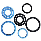 FYATTVA Rubber Bands Stretchy Silicone Bands Men`s Rings Set 8pcs Black Blue
