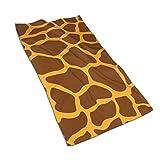 Tyueu Toalla de mano con estampado de jirafa, toallas de baño extra suaves, 27,5 x 44,5 cm