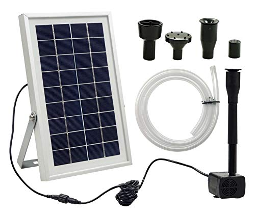 Ntsevsun Solar Fountain Pump,3W Solar Water Fountain Pump for Birdbath, Waterfall, Small Pond and Water Circulation, with 3.3 ft Extension Hose