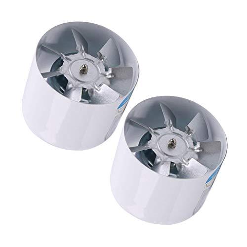 2 Unids Ventilador Extractor de Aire en Línea para Oficina, Hotel, Baño - 4 Pulgadas