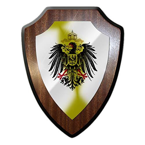 Cartel con escudo de águila militar, con escudo militar, 27025