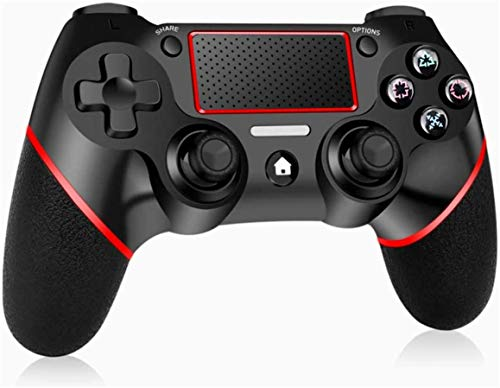 PUNWEOS Wireless PS4 Controller for Playstation 4, DualShock 4 Game Controller with Gyro/HD Dual Vibration/Touch Panel/LED Indicator Gamepad Remote Joystick for Playstation 4/Pro/Slim(Red)