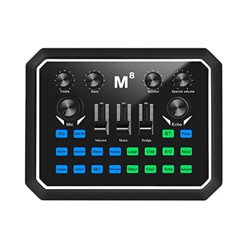 NXYJD Tarjeta de placa de sonido del mezclador profesional Efecto de múltiples músicos Regulación de alto y bajo pompos Dsp Chips del procesador