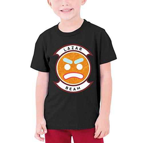 Ichenquxi Lazar-Beam Youth T Shirt for Boys and Girls Black