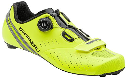 Louis Garneau Men's Carbon LS-100 2 Road Bike Clip-in Cycling Shoes with BOA Adjustment System, Yellow/Black, US (8), EU (41)