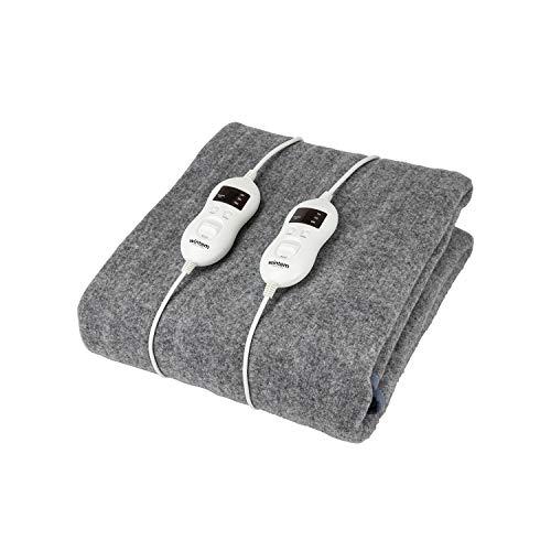 Wintem Encanta Coprimaterasso termico Scaldaletto coperta termica elettrica con 2 livelli di temperatura, singola o matrimoniale (Matrimoniale con Timer)