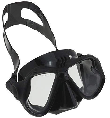 Navitech Maschera di Immersione con bombole Nero con Supporto Compatibile con MixMart Action Camera WiFi Waterproof Sports Camera