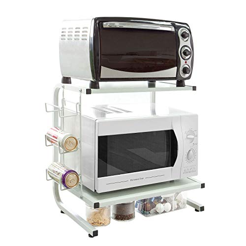 SoBuy FRG092-W,Soporte para microondas, Estante, estantería de Cocina, miniestante,ES