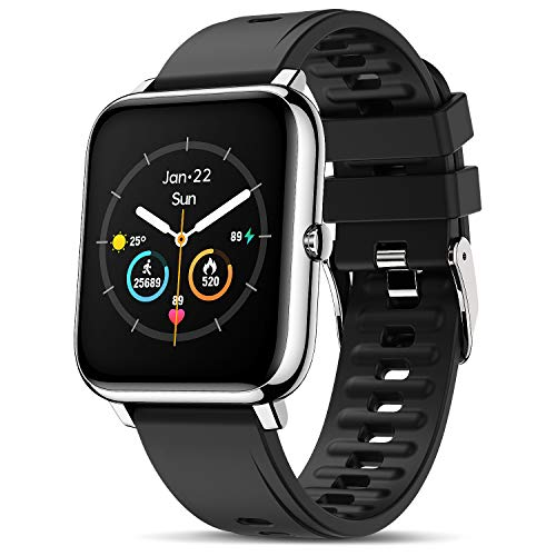 Canmixs Smartwatch Orologio Fitness Uomo Donna Impermeabile Smart Watch Cardiofrequenzimetro da polso Contapassi Activity Tracker Sportivo Touch Digitale Bluetooth Smartwatch Acciaio per Android iOS