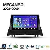 Jxiao GPS Android 8.1 Quad Core estéreo del Coche de 9 Pulgadas LCD de Pantalla táctil para Renault Megane 2 2002-2009, Radio Soporte Reproductor Multimedia/Coche/Llamadas Manos Libres