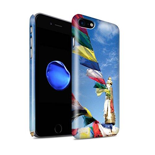Gloss Telefoonhoesje voor Apple iPhone SE 2020 Binnenste Vrede Gebed Vlaggen Ontwerp Glanzend Ultra Slim Dun Hard Snap Cover