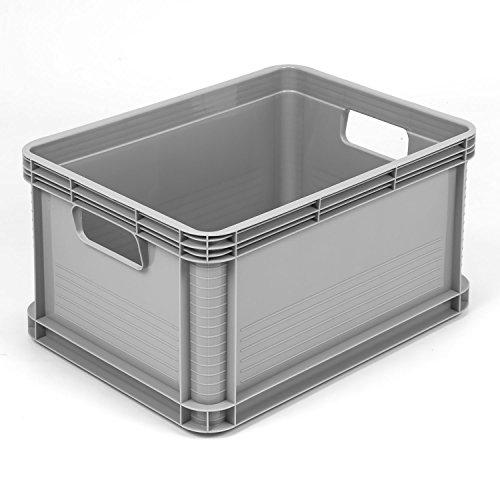 3 Stück je 20 L Eurobehälter Stapelkiste Eurobox Lagerbox Lagerkiste Europalette