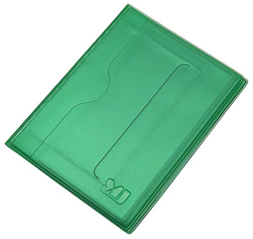 Práctica Tarjetero para documento de Identidad y Tarjeta de crédito 12 Bolsillos MJ-Design-Germany (Verde)