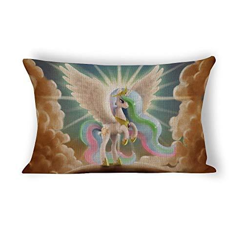My Li-ttle Po-ny - Funda de almohada con cierre de cremallera oculta (76,2 x 50,8 cm)