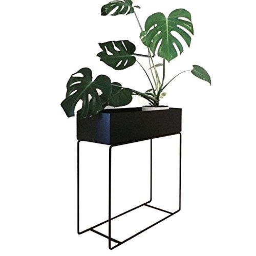Style Européen Fleur Stand Moderne Creative Iron Plant Étagère pour Salon Balcon D'intérieur-debout Chlorophytum Fleur Pot Rack Noir (Couleur : Noir)