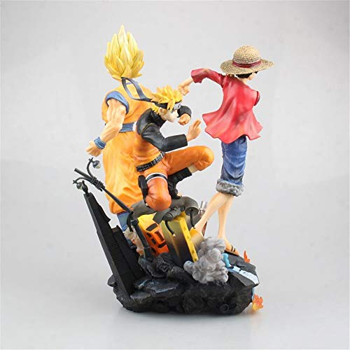 CLEARNICE Game Jump Force One Piece Naruto Dragon Ball Action Figure PVC Luffy Goku Naruto Figuras Anime Figure Toys Diorama Model Pg Dimensions 26Cm